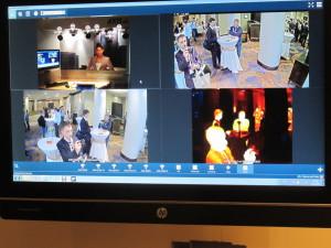 Фото монитора, на который выведены изображения с камер (в том числе тепловизора)