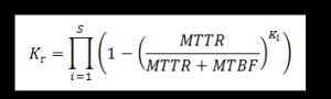 Формула коэффициента готовности