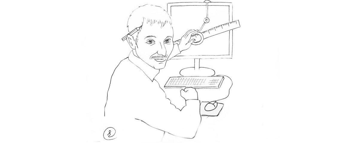 Проектировщик за рабой (чертит на компьютере как на кульмане :-) )