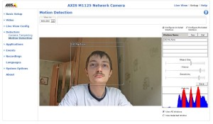 Функция Motion Detection в действии