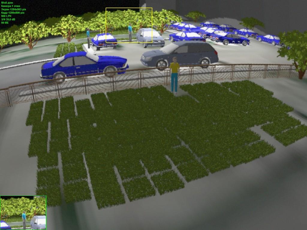 Моделирование изображения от камеры AXIS M3024-LVE в VideoCAD