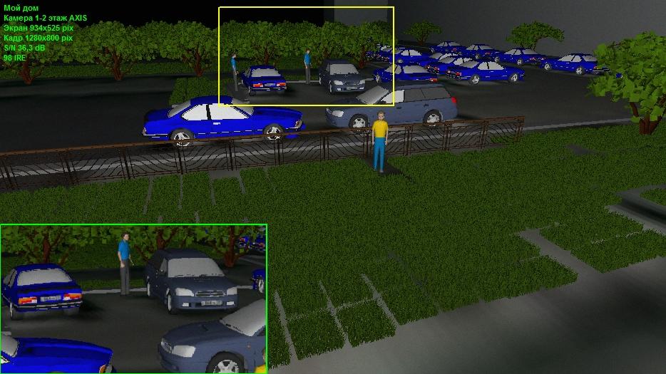 Моделирование изображения от камеры