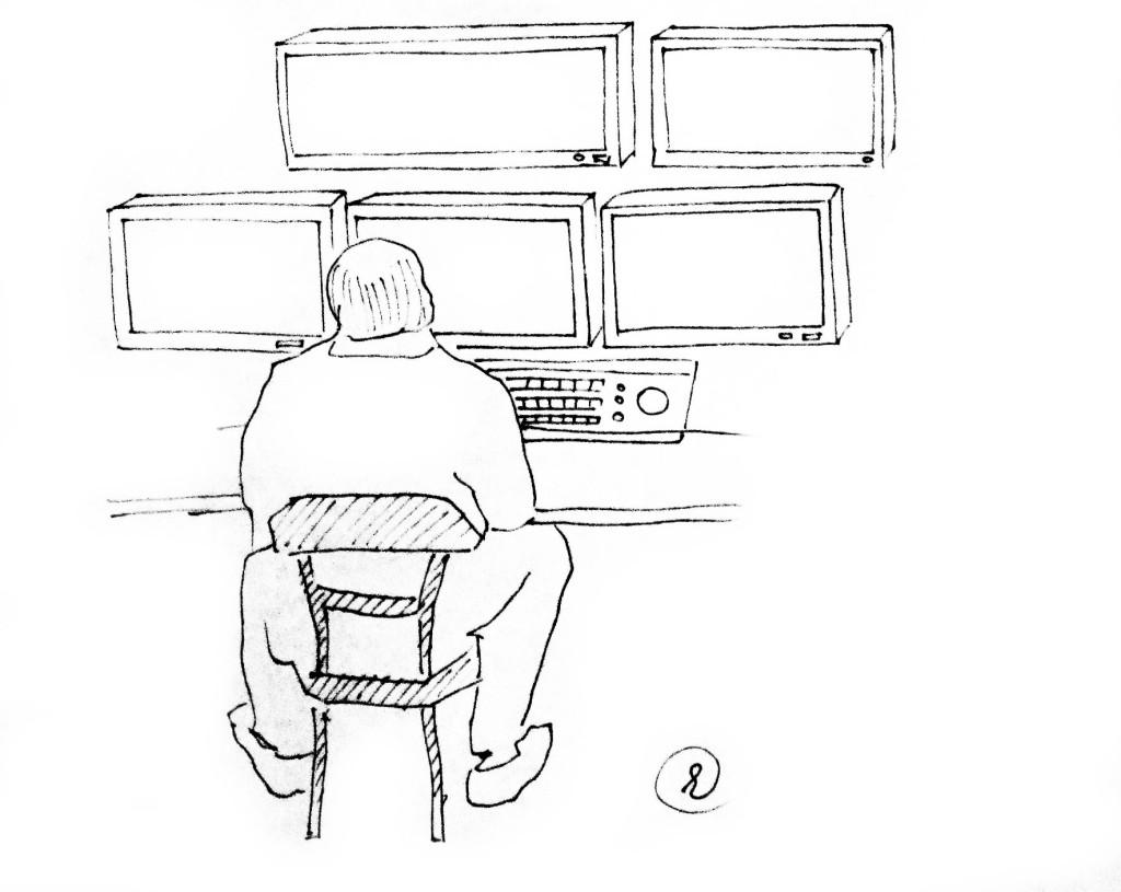 Оператор видеонаблюдения - труженик невидимого фронта :-)