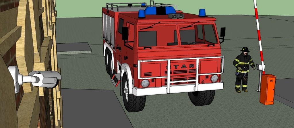 Пожарный. Связь с диспетчером.