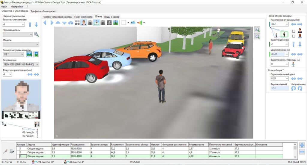 Моделирование изображения с камер