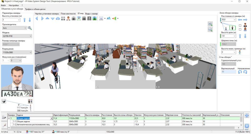 Моделирование картинки с мультисенсерной камеры