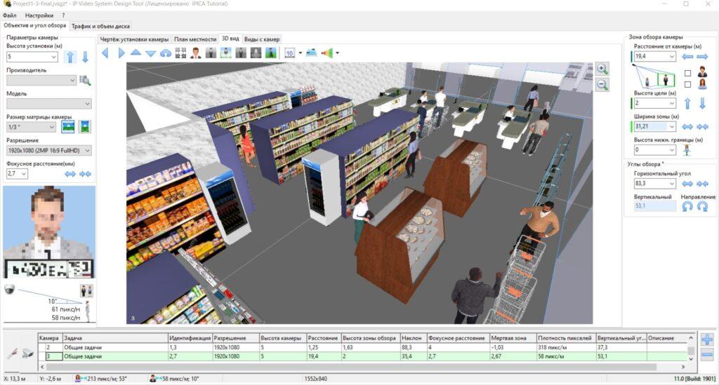 Проектирование CCTV для ритейла